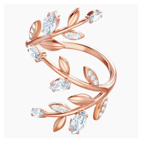 Pierścionek Mayfly, biały, w odcieniu różowego złota Swarovski