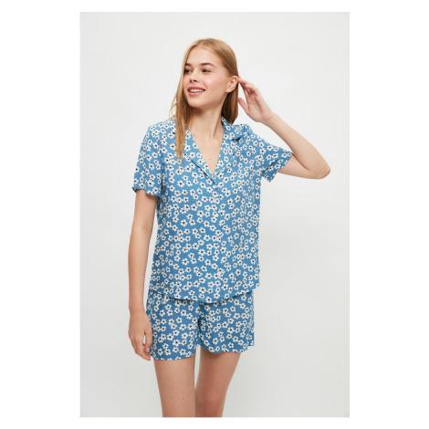 Trendyol Floral Pattern Woven Pajamas Set
