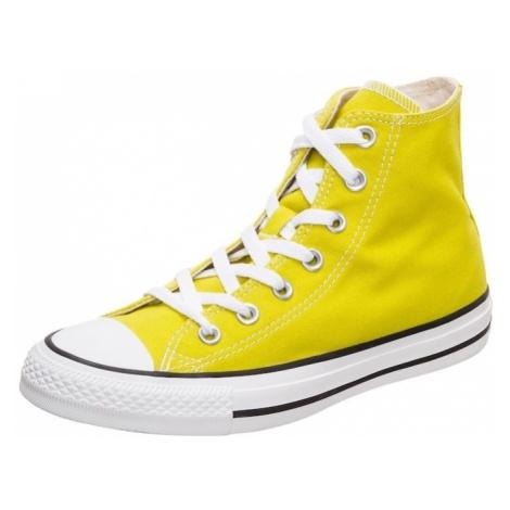 CONVERSE Trampki wysokie 'Chuck Taylor All Star' żółty / biały