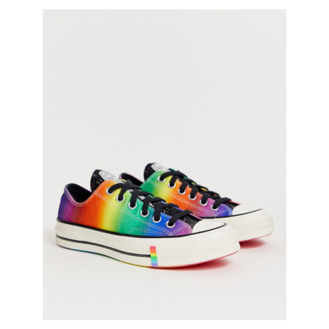 Converse Pride Chuck '70 Lo Rainbow Black Glitter Trainers