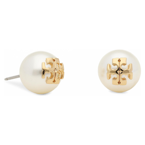 Kolczyki TORY BURCH - Crystal Pearl Stud Earring 11165514 Ivory/Tory Gold 110