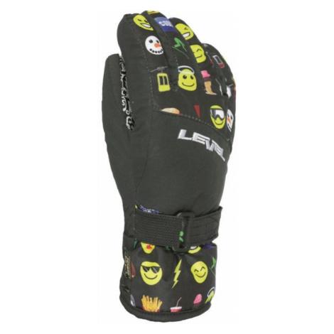 Level DARK JR czarny 6 - Rękawice narciarskie dziecięce