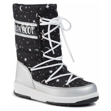 Śniegowce MOON BOOT - Jr Girl Q.Universe Wp 34052100001 M Silver/Black