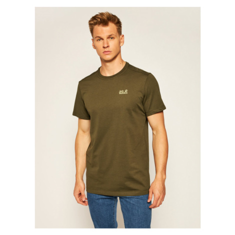 Jack Wolfskin T-Shirt Rebel T 1806852 Zielony Regular Fit