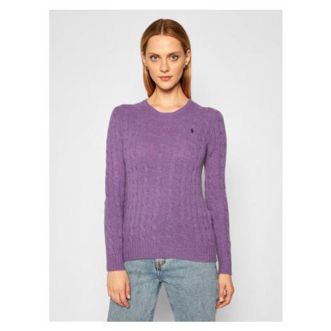 Polo Ralph Lauren Sweter Julianna Wool/Cashmere 211525764067 Fioletowy Straight Fit