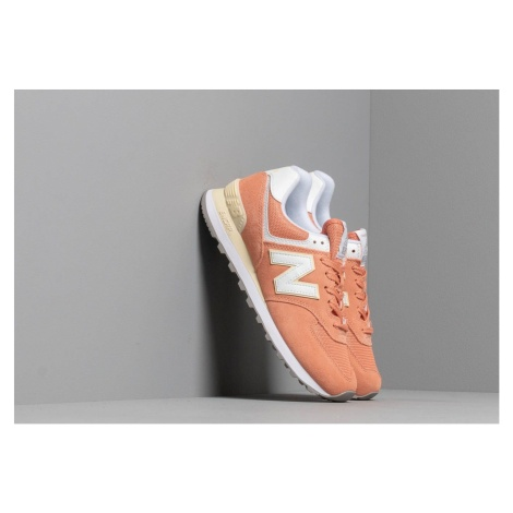 New Balance 574 Orange/ White
