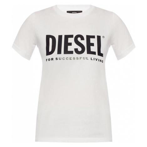T-shirt z nadrukowanym logo Diesel