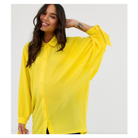 Blume Maternity oversized shirt in yellow