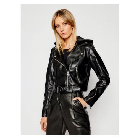 Calvin Klein Jeans Kurtka skórzana J20J215652 Czarny Regular Fit