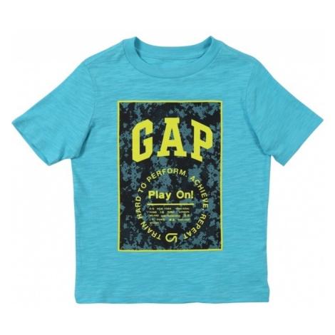 GAP Koszulka 'V-SS GFIT TEE' turkusowy