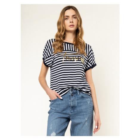 Trussardi Jeans T-Shirt 56T00236 Granatowy Regular Fit