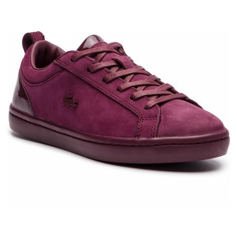 Sneakersy LACOSTE - Straightset 318 1 Caw 7-36CAW0037BB2 Burg/Burg