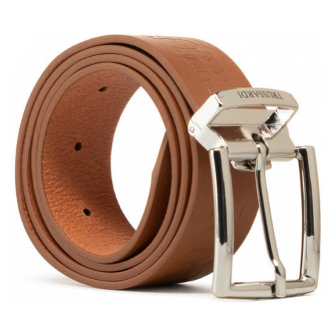 Trussardi Pasek Męski Belt H3,5cm Logo 71L00150 Brązowy