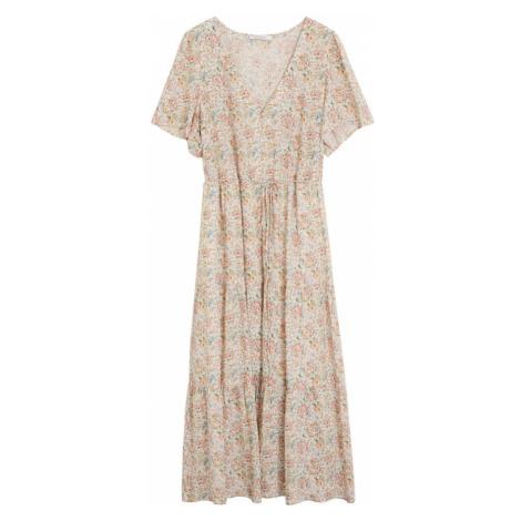 VIOLETA by Mango Letnia sukienka nakrapiany biały / pastelowo-żółty / pastelowy niebieski / past