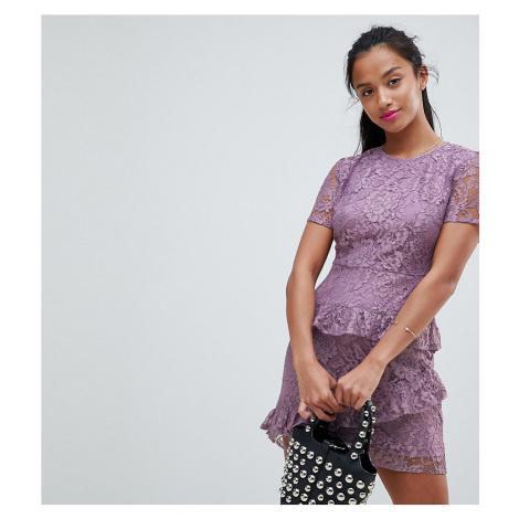 Fashion Union Petite Dress In Lace