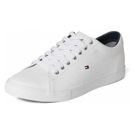 Sneakersy skórzane z wyhaftowanym logo Tommy Hilfiger