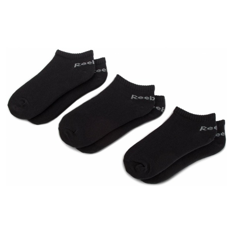 Zestaw 3 par niskich skarpet unisex Reebok - Act Core Inside Sock 3P Du2990 Black/Black/Black