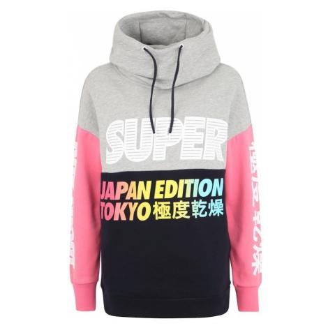 Superdry Bluzka sportowa 'Japan Edition' szary / różowy / czarny