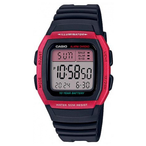 Zegarek CASIO - W-96H-4AVEF Black/Red