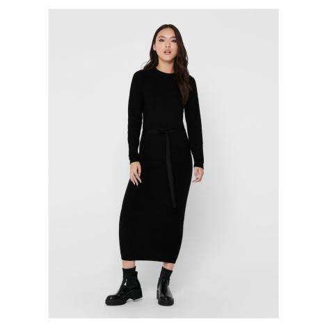 Only czarna midi sukienka swetrowa Dawn