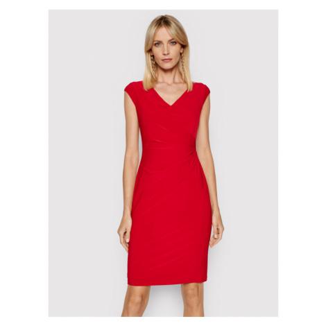 Lauren Ralph Lauren Sukienka codzienna 250793037014 Czerwony Slim Fit