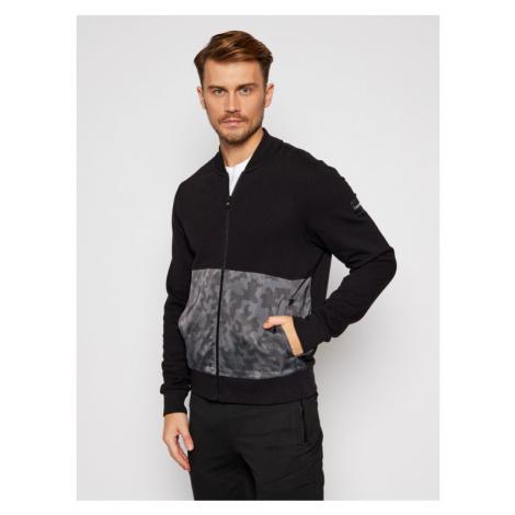 Calvin Klein Bluza Nylon Mix Zip Through K10K105722 Czarny Regular Fit