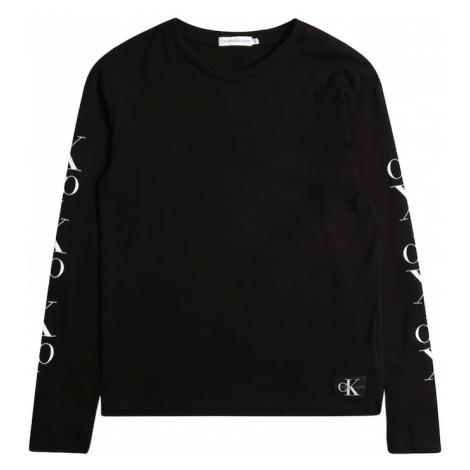 Calvin Klein Jeans Koszulka 'MIRROR MONOGRAM' czarny