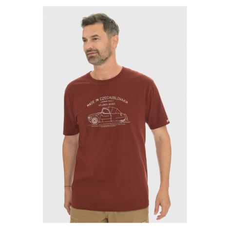 Bordowy T-shirt Bushman Bobstock