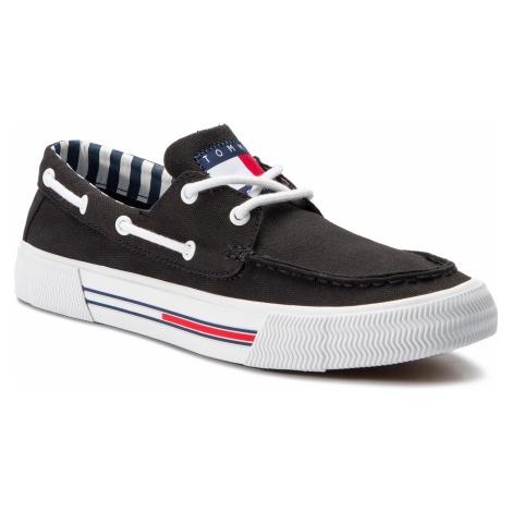 Mokasyny TOMMY JEANS - Hybrid City Sneaker EM0EM00200 Black 990 Tommy Hilfiger