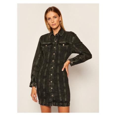 Patrizia Pepe Sukienka jeansowa 8J0953/A7K2-K112 Czarny Regular Fit