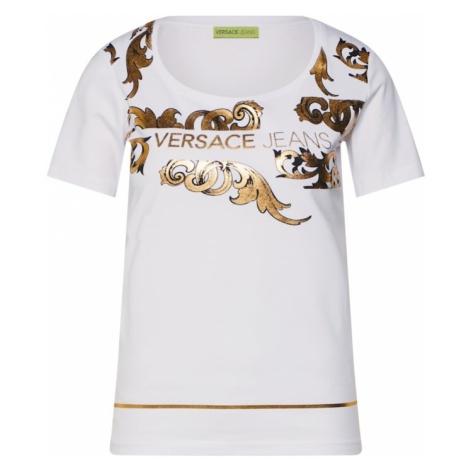 Versace Jeans Koszulka 'TDP601 BERNINI GOLD' złoty / biały