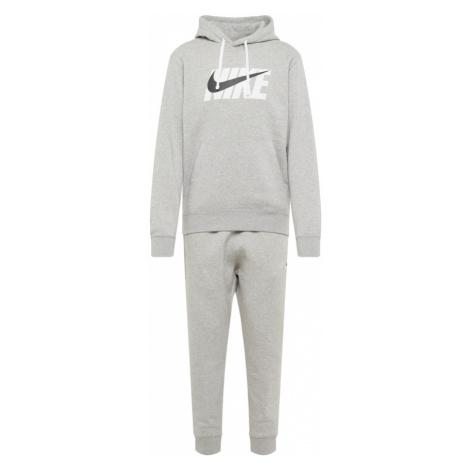 Nike Sportswear Strój do biegania biały / szary / czarny