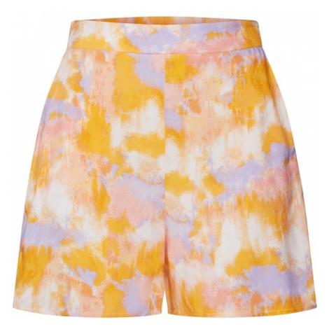 NEW LOOK Spodnie 'LOLA TIE DYE FLIPPY SHORT' kremowy / jasnoniebieski / pomarańczowy