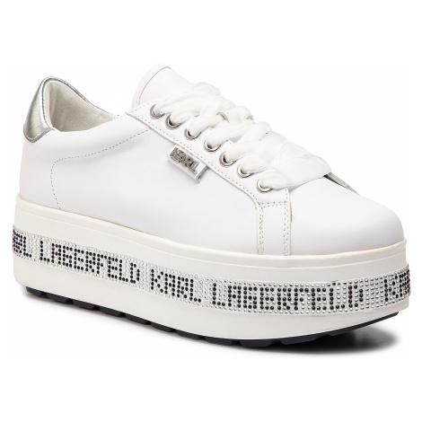 Sneakersy KARL LAGERFELD - KL61450 White Lthr