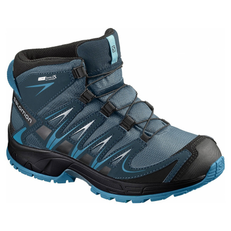 buty dziecięce Salomon XA Pro 3D Mid CSWP - Mallard Blue/Reflecting Pond/Mykonos Blue