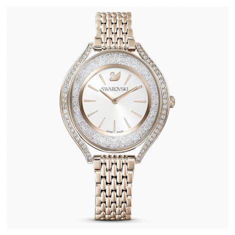 Zegarek Crystalline Aura, bransoleta z metalu, w odcieniu złota, powłoka PVD w odcieniu szampańs Swarovski