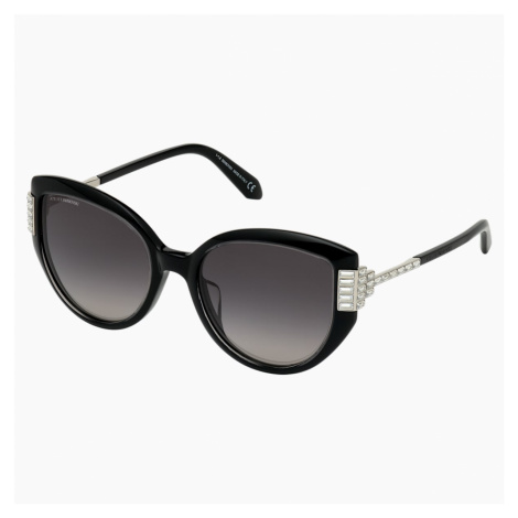 Fluid Cat Eye Sunglasses, SK0272-P, Black Swarovski
