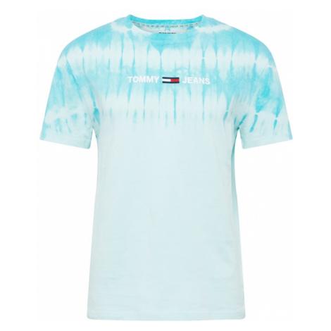 Tommy Jeans Koszulka 'TIE DYE' biały / jasnoniebieski / kobalt niebieski / czerwony Tommy Hilfiger