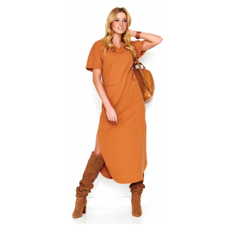Makadamia Woman's Dress M464 Camel