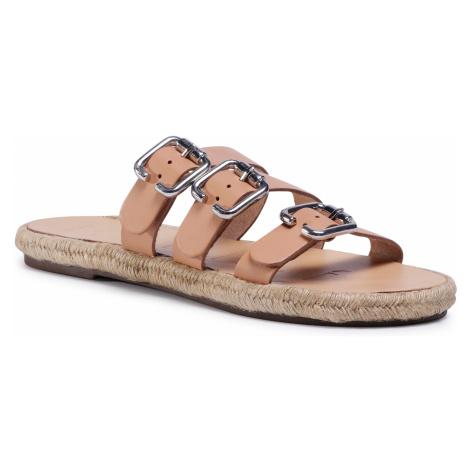 Espadryle MANEBI - Leather Sandals S 2.0 Y0 Natural W Triple Buckle