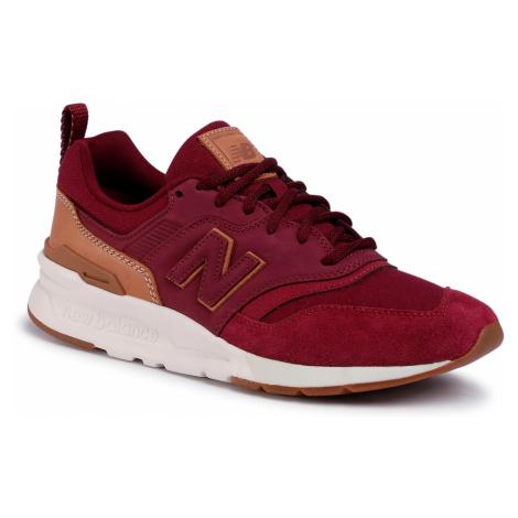 Sneakersy NEW BALANCE - CM997HAE Bordowy