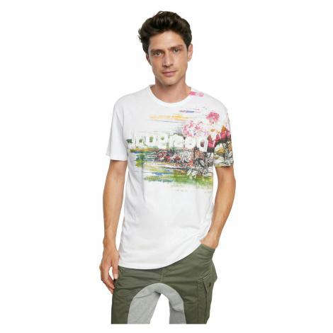 Desigual biały męskie koszulka TS Cameron