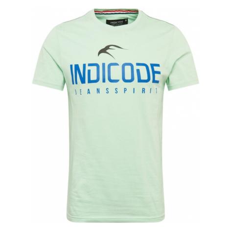 INDICODE JEANS Koszulka pastelowy zielony / niebieski / czarny