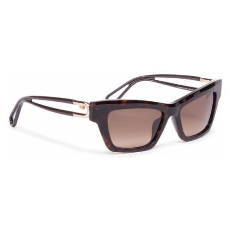 Furla Okulary przeciwsłoneczne Sunglasses SFU465 WD00006-ACM000-AN000-4-401-20-CN-D Brązowy