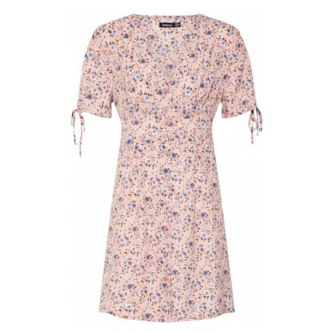 Boohoo Letnia sukienka 'FLORAL' różowy pudrowy / biały