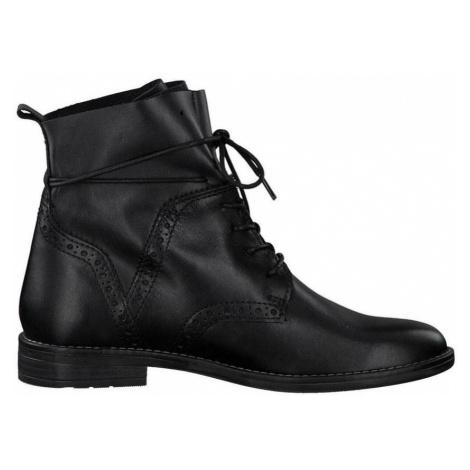 Marco Tozzi, Booties Low Heels Czarny, female, rozmiary: