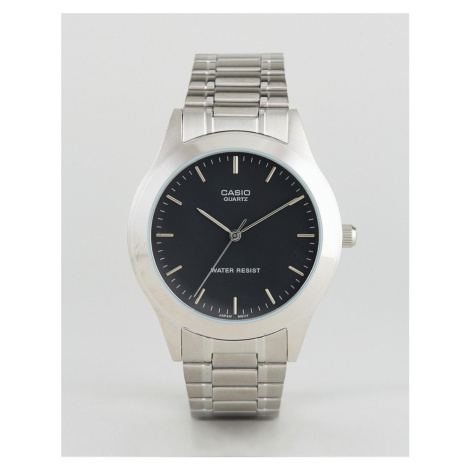 Casio MTP1128A-1A silver stainless steel strap watch