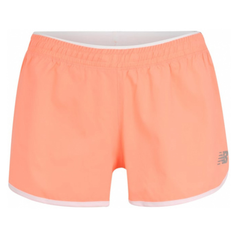New Balance Spodnie sportowe neonowa pomarańcza