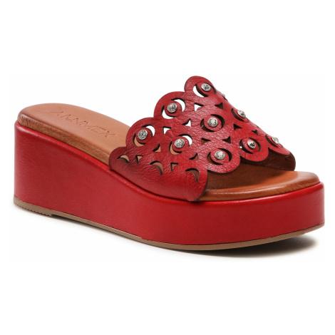 Klapki ANN MEX - 0014 Czerwony
