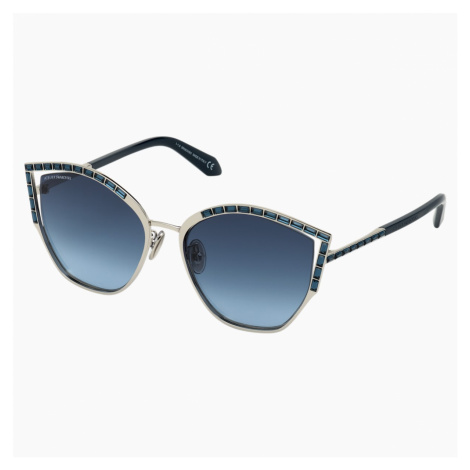 Fluid Sunglasses, SK0274-P-H 16C, Blue Swarovski